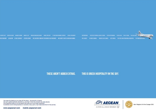 Aegean Airlines advertising