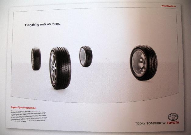 Toyota Tyre Programme advertising