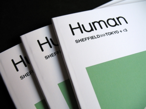Sheffield>>>Tokyo+<3 catalogue cover, Human Studio